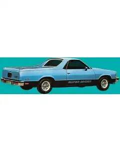 1983-1984 El Camino Super Sport Decal Set Charcoal & Red