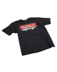 Edelbrock 2310 T-Shirt; Racing; Black; S