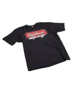Edelbrock 2310 T-Shirt; Racing; Black; S