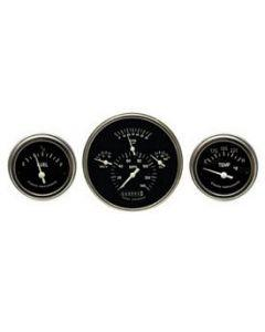 Chevy Classic Instruments Update Gauge Kit, With Black Faces & White Needles, 1957