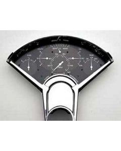 Chevy Classic Instruments Updated Gauge Kit, With Black Face & White Numbers, Needles, Belera, 1955-1956