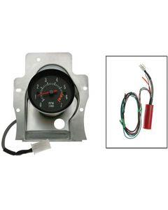 1969 El Camino Tachometer, 7000 Rpm With 6000 Red Line, Center Conversion