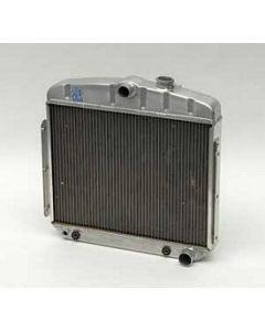 Chevy Radiator, Aluminum, 6-Cylinder Position, Griffin Pro Series, 1955-1956