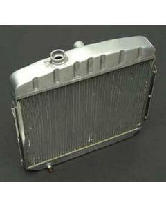 Chevy Radiator, Aluminum, V8 Position, Griffin HP Series, 1955-1957