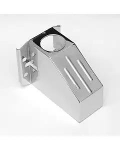Chevy Custom Master Cylinder Cover, Ribbed, Chrome, 1955-1957