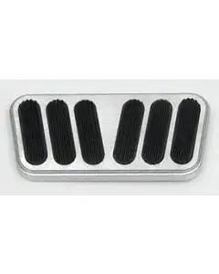 Chevy Lokar Aluminum Power Brake Pedal Cover With Rubber Inserts, 1955-1957