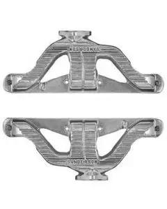 Chevy Sanderson Headers, Cast Iron, Small Block, 1955-1957