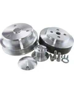1984-1987 Corvette March Performance Power And AMP Polished Aluminum Pulley System