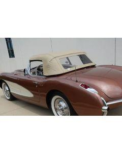 1956-1957 Corvette Convertible Top, Tan, Sewn