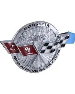 1978 Corvette Front Emblem Silver Anniversary