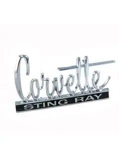 Corvette Hood Emblem Script, 1966 Or 1966-67 Rear