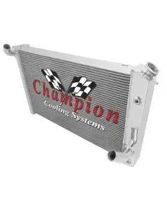 Champion Cooling 2-Row Economy Aluminum Radiator| EC478 Corvette 1973-1976