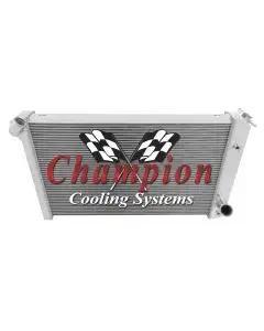 1973-1976 Corvette Champion Cooling 4-Row Max Efficiency Aluminum Radiator