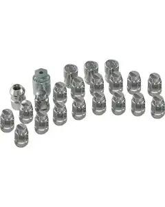 Corvette Wheel Lug Nut And Lock Set