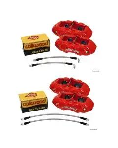 1965-1982 Corvette Caliper Set Aluminum Red Wilwood