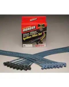 Chevy HEI Blue Spark Plug Wires, Moroso, 1955-1957