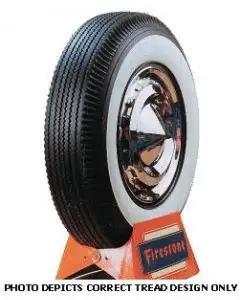 "1956-1960 Corvette Tire 6.70 x 15 2-11/16"" Whitewall Firestone"