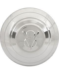 Hub Cap - V8 Embossed - Stainless Steel - 5-3/4 - Ford Passenger