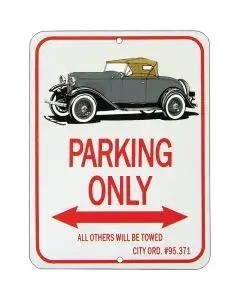 "Roadster ""Parking Only"" Sign"
