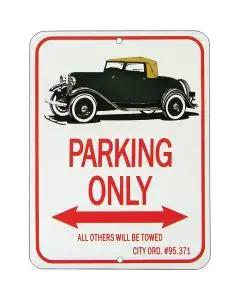 "Sport Coupe ""Parking Only"" Sign"