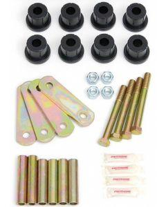Camaro Rear Spring Eye & Shackle Polyurethane Bushing Kit, Heavy Duty, For Multi-Leaf Springs, 1970-81