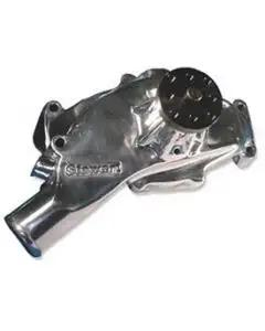 1965-1970 Corvette Water Pump Big Block Polished Aluminum Stage II Hi-Flo Stewart