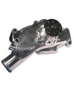1971-1974 Corvette Water Pump Big Block Polished Aluminum Stage II Hi-Flo Stewart