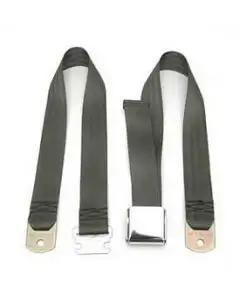 Chevy Seat Belt, Front, Green, 1955-1957