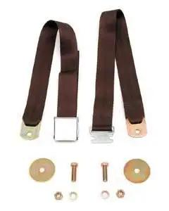 1955-1957 Chevy Seat Belt Front Brown