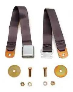 Chevy Seat Belt, Front, Gray, 1955-1957