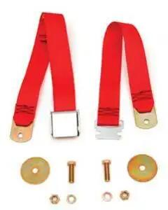 Chevy Seat Belt, Front, Bright Red, 1955-1957