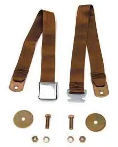 Chevy Seat Belt, Rear, Copper, 1955-1957