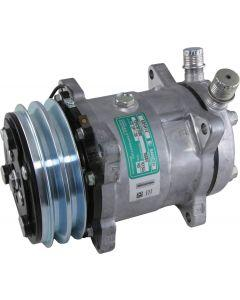 Full Size Chevy Air Conditioning Compressor, Unpolished, Sanden 508 & 134A, 1958-1972