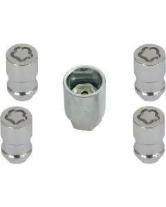 McGard Chrome Wheel Lock Lug Nut Set with Tool, 5 Pieces