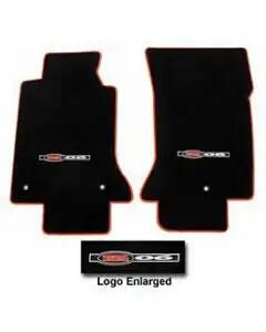 2001-2004 Corvette Lloyds Mats Floor Mats Black And Neon Binding With Z06 Logos