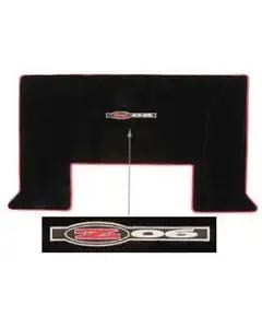 2001-2004 Corvette Lloyds Mats Cargo Mat Hardtop Black With Z06 Neon Red Logo And Binding