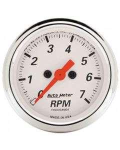 Chevelle Tachometer, 7000 RPM, Arctic White, AutoMeter, 1964-1972