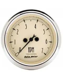 Chevelle Malibu Tachometer, 7000 RPM, Antique Beige, AutoMeter, 1964-72