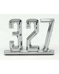Full Size Chevy Front Fender Emblem, 327ci, 1965-67