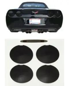 2005-2013 Corvette Black-Out Kit Tail And Brake Lights Smoke Black Rear
