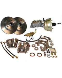 Full Size Chevy Brake Kit, Power Front Disc, Complete, 1969-1970