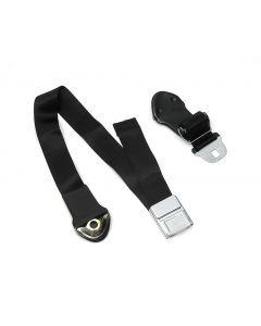 Full Size Chevy Bucket Seat Belt, Deluxe Interior, Black, 1966