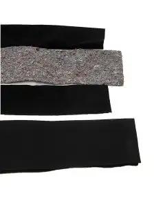 Full Size Chevy Convertible Top Pads, Black, 1961-1975