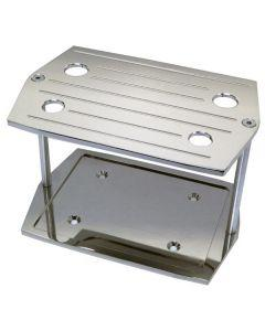 Chevy Chrome Ball Milled Optima Battery Tray, 1955-1957