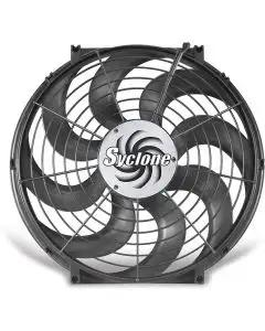Chevelle Engine Cooling Fan, Electric, Universal, Single, 2500 CFM, S-Blade, Syclone, Flex-a-lite, 1964-1972