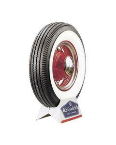 Tire - 750 X 16 - 4-1/8 Whitewall - Tube Type - BF Goodrich