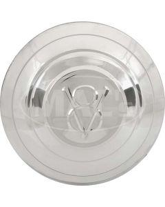 Hub Cap - V8 Embossed - Stainless Steel - 5-3/4 - Ford Pickup Truck