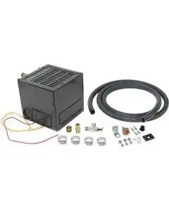 Hot Water Heater Assembly Kit - 12 Volt - Not Original - 7 Wide X 7-1/4 Tall - Black Finish - Ford
