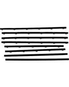 Belt Weatherstrip Kit - Doors & Rear Quarter Windows - 8 Pieces - 2 Door Hardtop