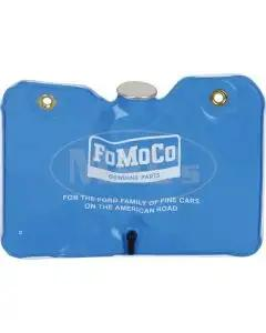 Windshield Washer Bag & Cap - Twist Off Cap - Blue With White Lettering - Ford